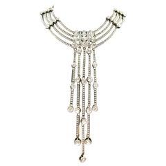 Signed HEIDI DAUS Designer Hollywood Inspired Swarovski Crystal Necklace
