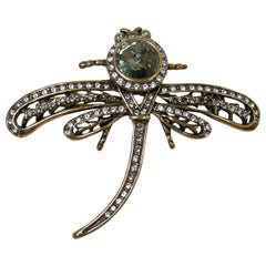 Signed Heidi Daus Dragonfly Brooch