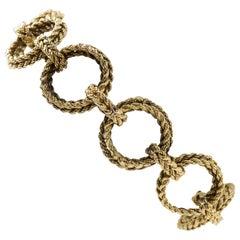 Signed Hermes 18 Karat Gold Bracelet