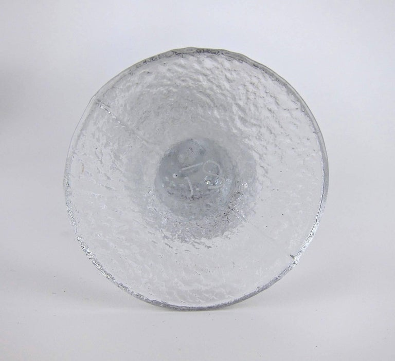 Signed Iittala Festivo Midcentury Glass Candleholders by Timo Sarpaneva 4