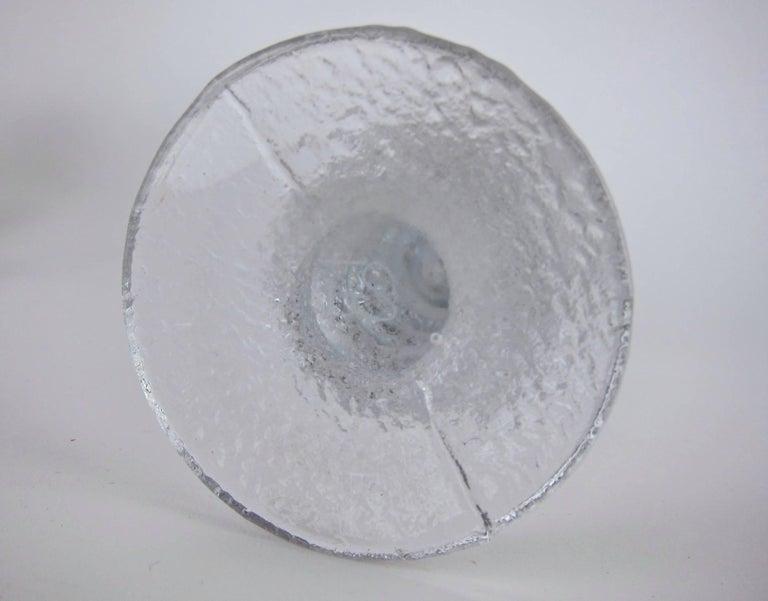 Signed Iittala Festivo Midcentury Glass Candleholders by Timo Sarpaneva 5