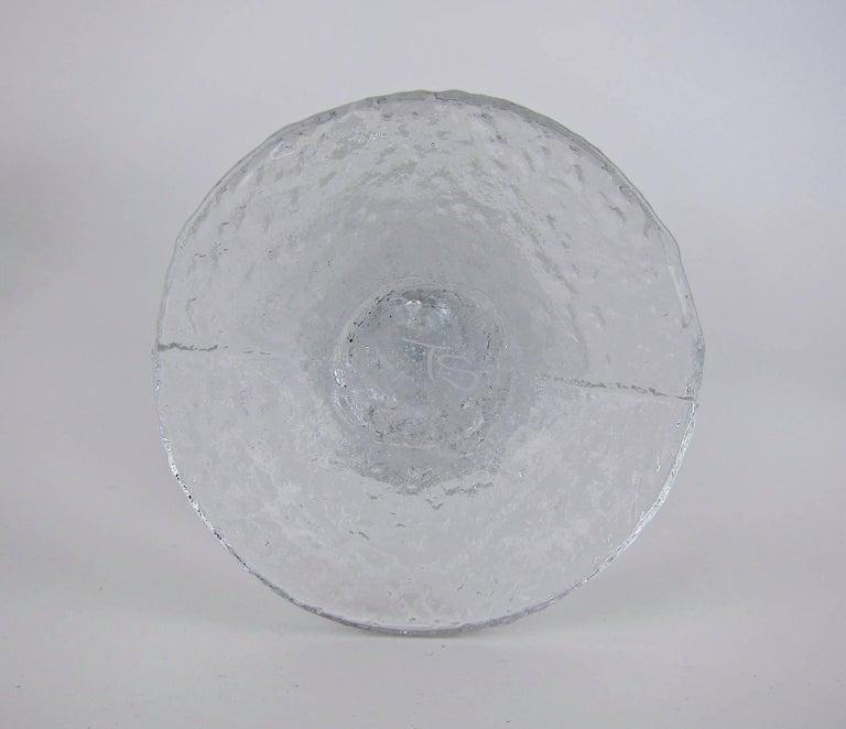 Signed Iittala Festivo Midcentury Glass Candleholders by Timo Sarpaneva 2