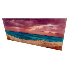Signed Isack Kousnsky Extra Large Photo on Vibrachrome Titled Panoramic Ocean