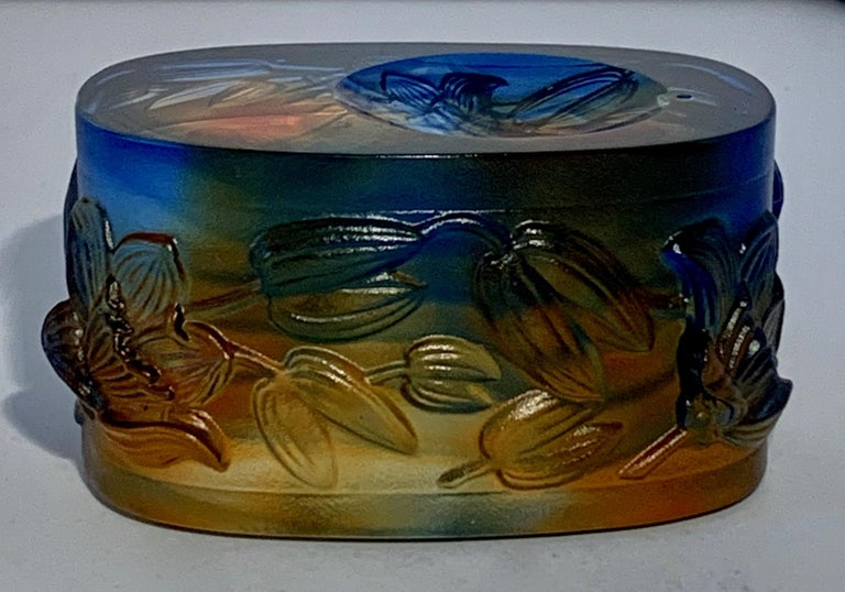 Signed Italian Crystal Incense Burner In Good Condition For Sale In Los Angeles, CA