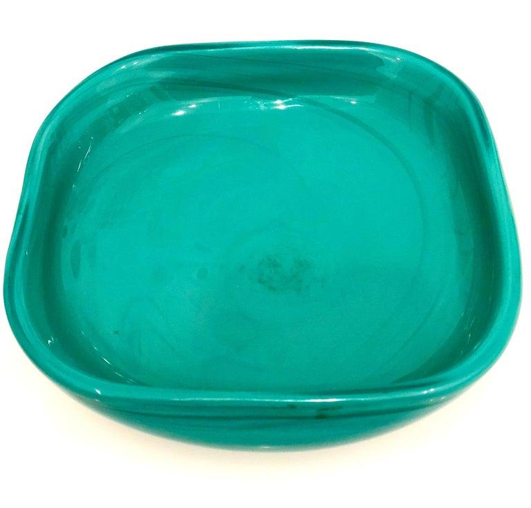 Mid-Century Modern Signed Italian Murano Venini Glass Bowl For Sale