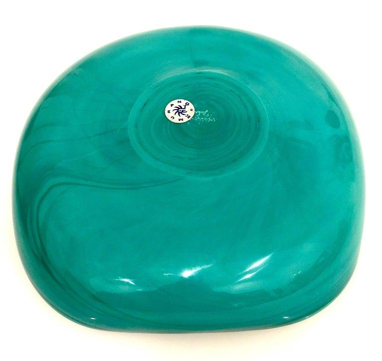 Signed Italian Murano Venini Glass Bowl In Excellent Condition For Sale In San Diego, CA