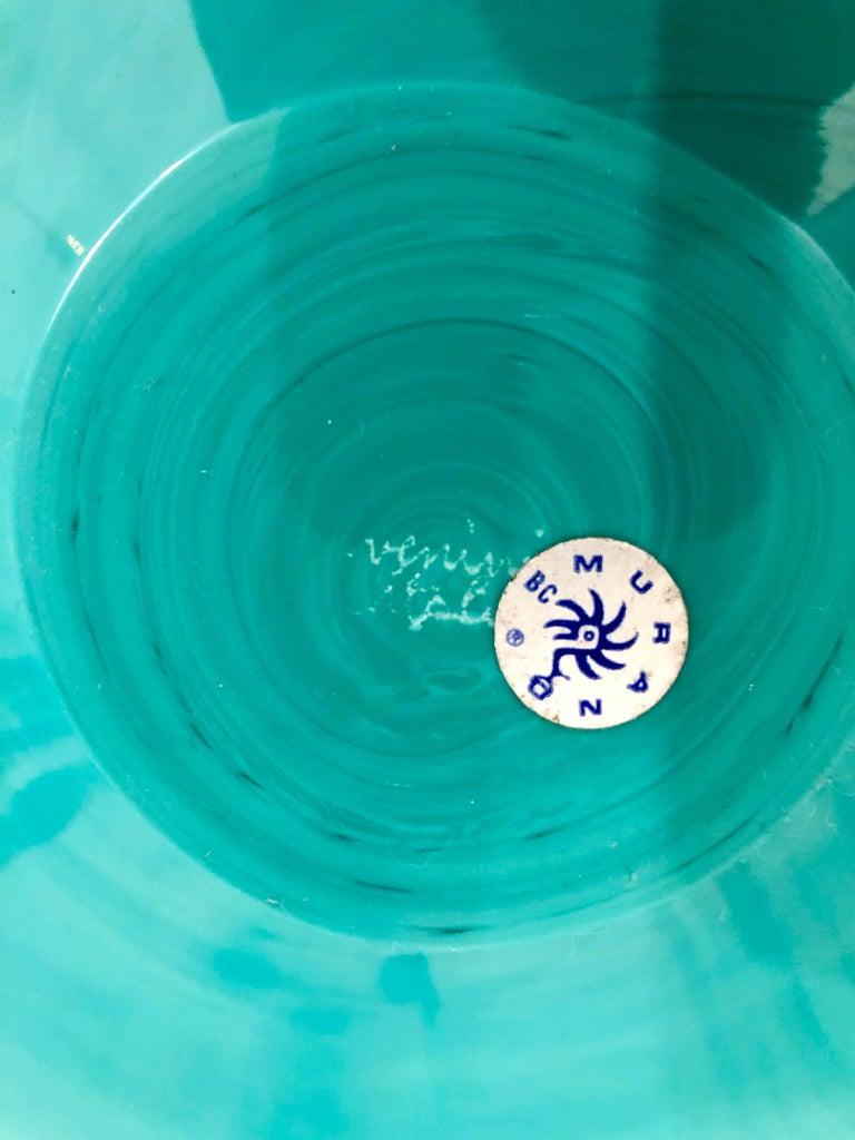 20th Century Signed Italian Murano Venini Glass Bowl For Sale