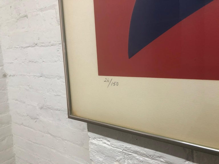 Modern Signed Jack Youngerman Silkscreen Titled Peace For Sale