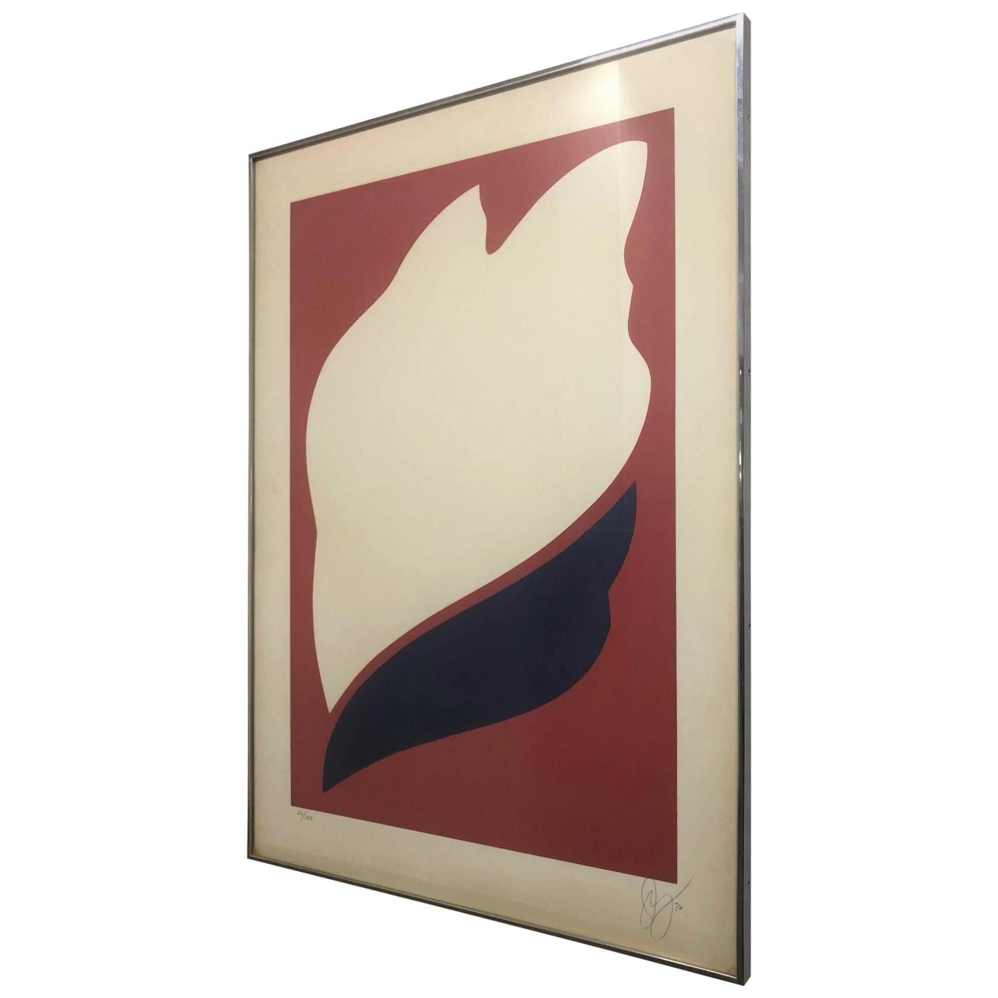 Signed Jack Youngerman Silkscreen Titled Peace