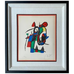 """Signed Joan Miro Abstract Limited Edition Lithograph from """"Lithograph II"""" 1975"""