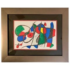 Signed Joan Miro Lithograph Original Signature with COA