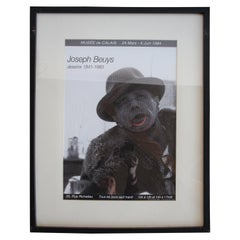 Signed Joseph Beuys Exhibition Poster, 1984 for Musee De Calais Dessins