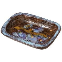 Signed Juliette Derel Stoneware Ceramic Dish