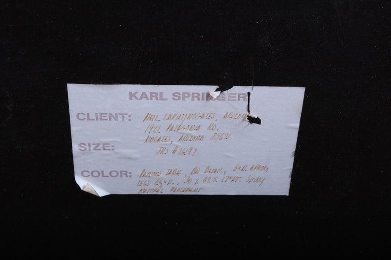 Signed Karl Springer Parchment Goatskin Table For Sale 10