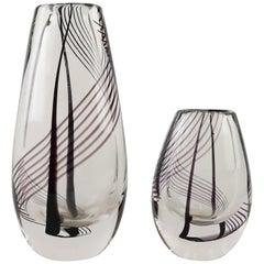 Signed Kosta Boda Art Glass Vases Vicke Lindstrand