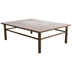 Signed Laverne Patinated Bronze Rectangular Coffee Table