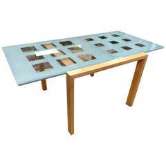 Signed Ligne Roset Extensia Expandable Glass Dining Table