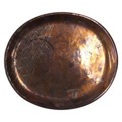 Signed Los Castillo Copper Mid-Century Serving Platter