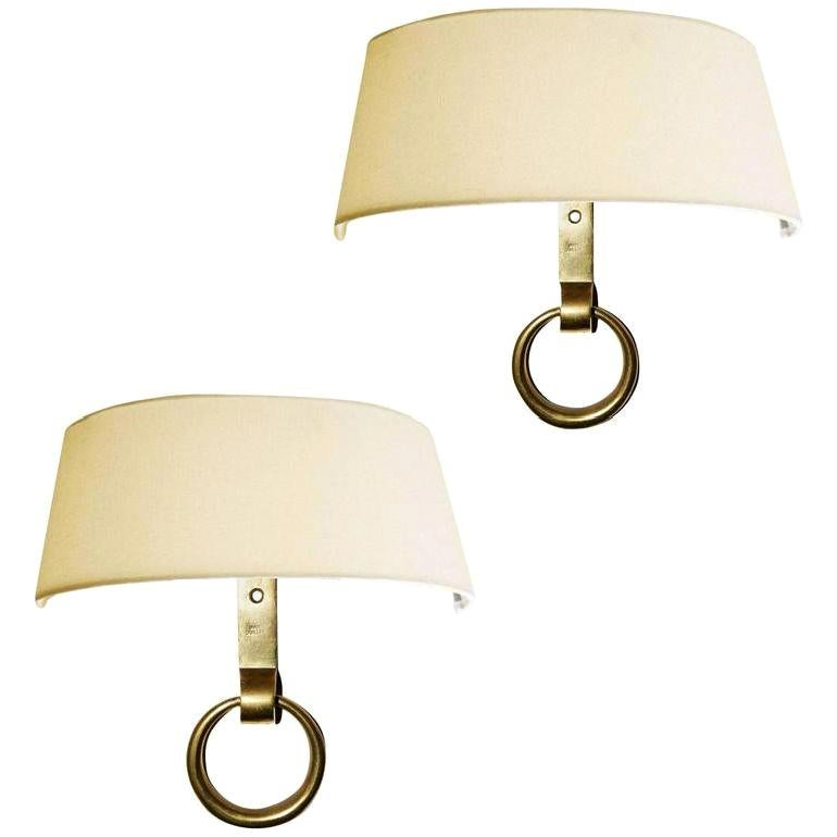 Signed Marcel Guillemard Pair of Sconces
