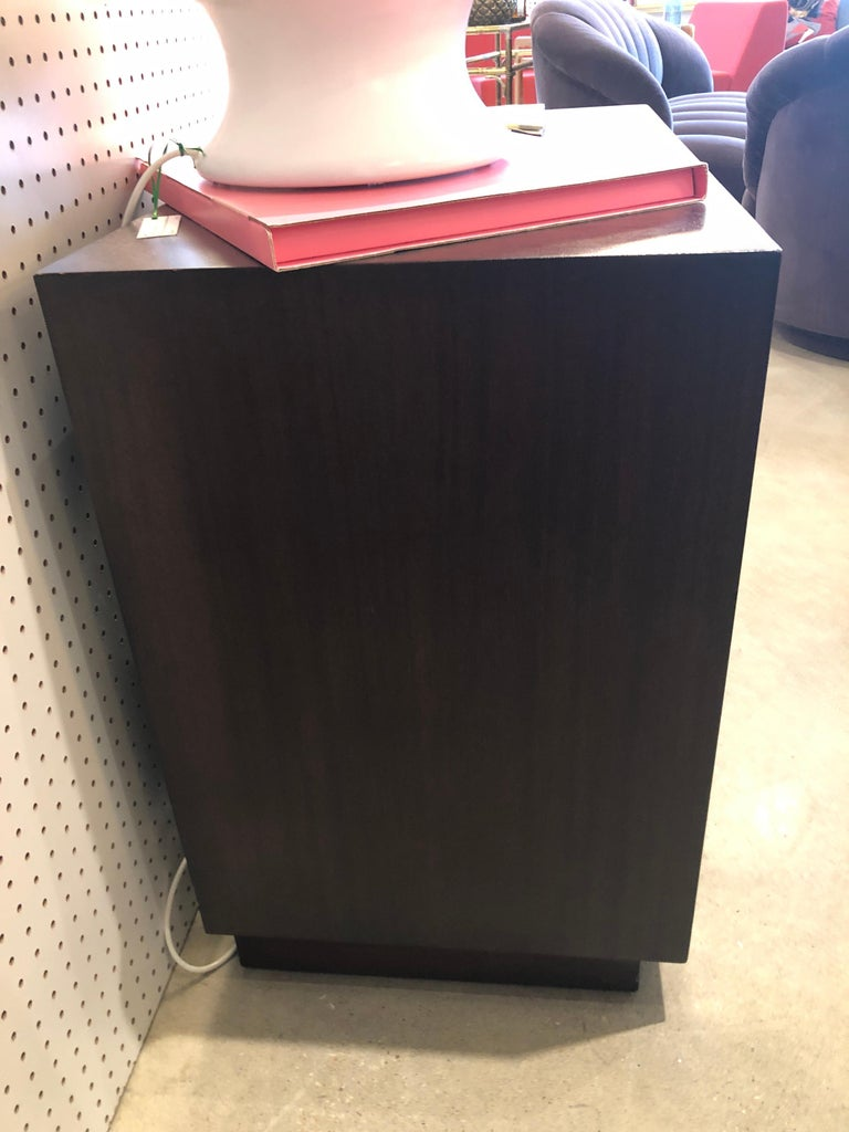 Signed Mid-Century Modern Edward Wormley / Dunbar Chest of Drawers, Brass Pull For Sale 8