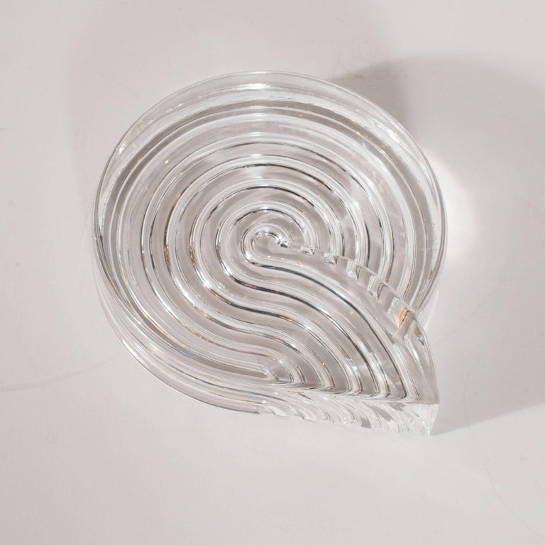 German Signed Mid-Century Modern Glass Ashtray Dish by Natale Sapone for Rosenthal For Sale