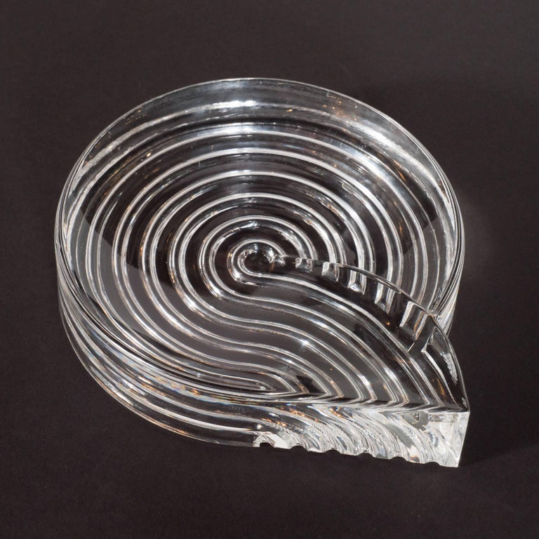 Late 20th Century Signed Mid-Century Modern Glass Ashtray Dish by Natale Sapone for Rosenthal For Sale
