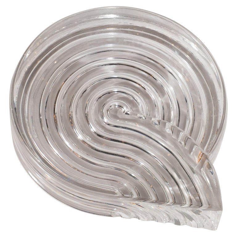 Signed Mid-Century Modern Glass Ashtray Dish by Natale Sapone for Rosenthal For Sale