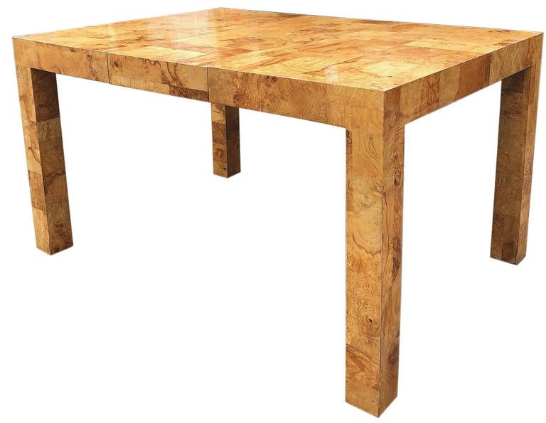 Mid-Century Modern Signed Mid-Century Paul Evans Burl Patchwork Dining Table For Sale