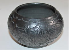 Signed Navajo Indian Pottery Bowl