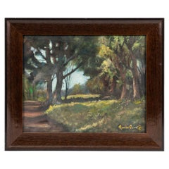 "Signed Oil on Canvas Landscape Painting Titled ""Sunny Sunday"" by Richard Olive"