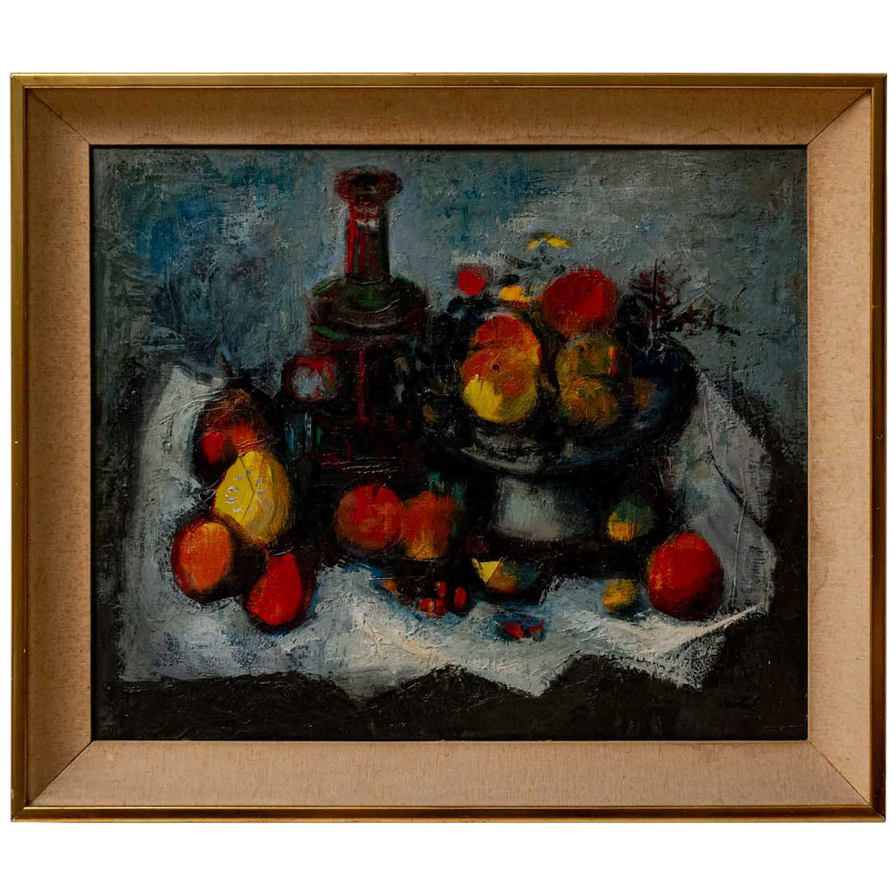 Signed Oil Painting from Spanish Artist Louis Vidal Molne, circa 1930s