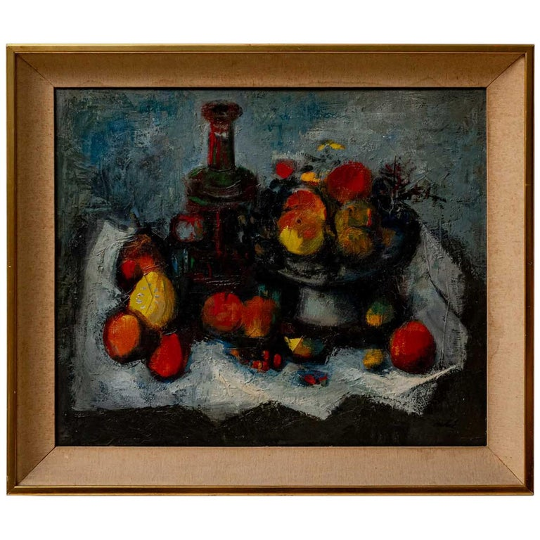 Signed Oil Painting from Spanish Artist Louis Vidal Molne, circa 1930s For Sale