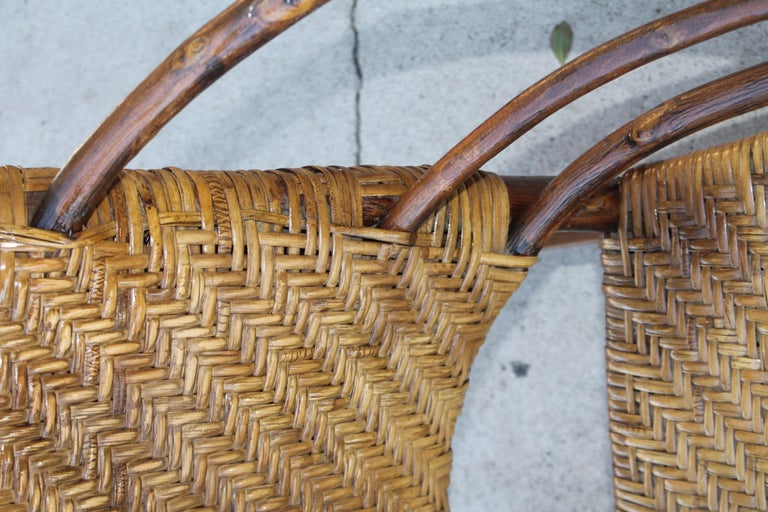 Signed Old Hickory Rocking Chairs, Pair For Sale 3