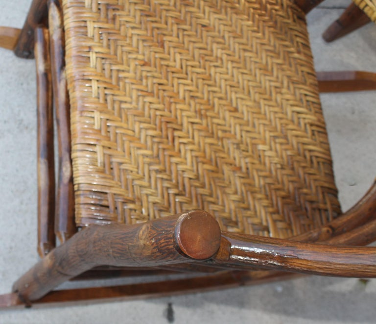 Signed Old Hickory Rocking Chairs, Pair For Sale 5