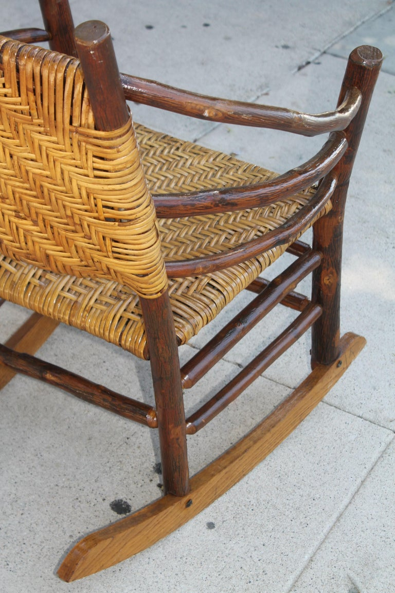 Signed Old Hickory Rocking Chairs, Pair For Sale 6