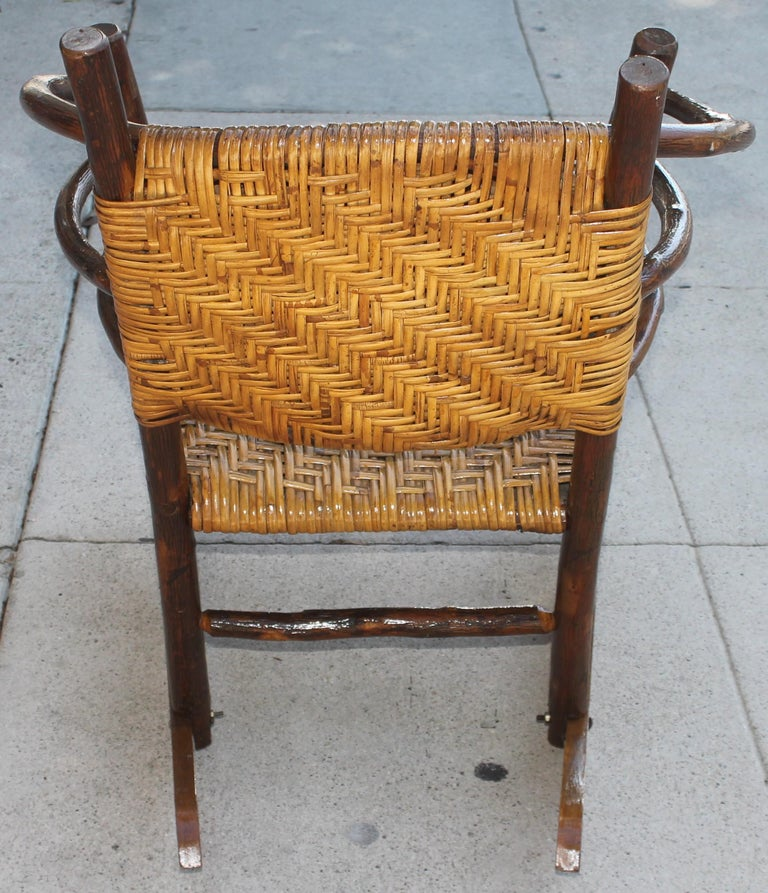 Wood Signed Old Hickory Rocking Chairs, Pair For Sale