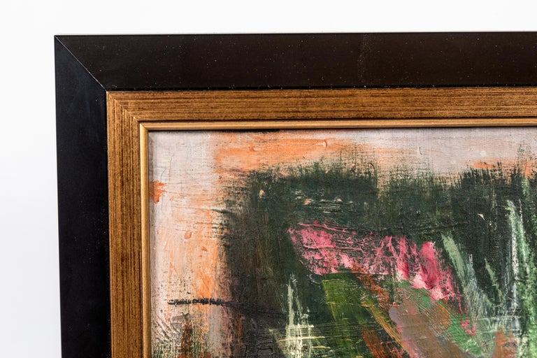 Signed, Original, Italian Abstract Painting In Good Condition For Sale In Newport Beach, CA