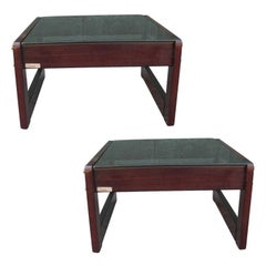 Signed Pair of Percival Lafer End or Cocktail Tables
