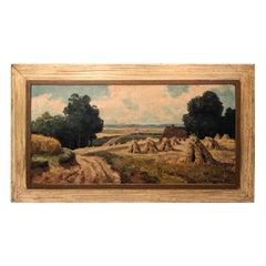 Signed Pastoral Landscape on Canvas Signed G.Winkelberg