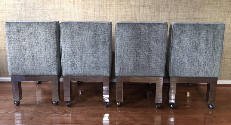 Paul Evans Original Cityscape Dining Chairs Chrome, Set of 8, Directional  For Sale 5