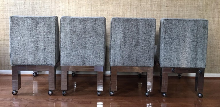 Paul Evans Original Cityscape Dining Chairs Chrome, Set of 8, Directional  For Sale 1