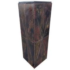 Signed Paul Evans Studio Midcentury Brutalist Modern Pedestal or Plant Stand