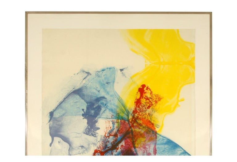 American Signed Paul Jenkins Numbered Lithograph, 1969