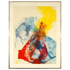 Signed Paul Jenkins Numbered Lithograph, 1969