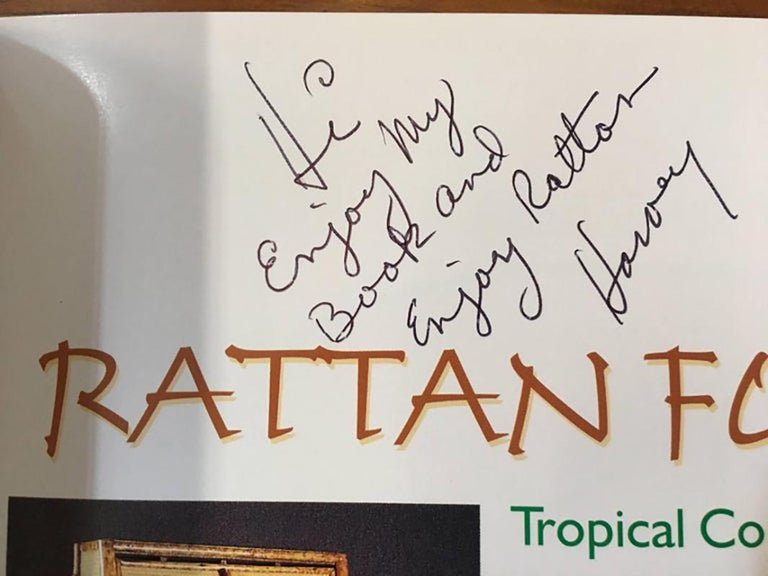 Original brand new 1st edition copy of Rattan Furniture: Tropical Comfort Throughout The House signed by author Harvey Schwartz.   Request a personal message written by the author at no charge.  Book details   Series: Schiffer Military History