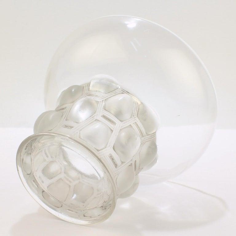 Signed Rene Lalique Art Deco Period Beautreillis Art Glass Vase For Sale 5