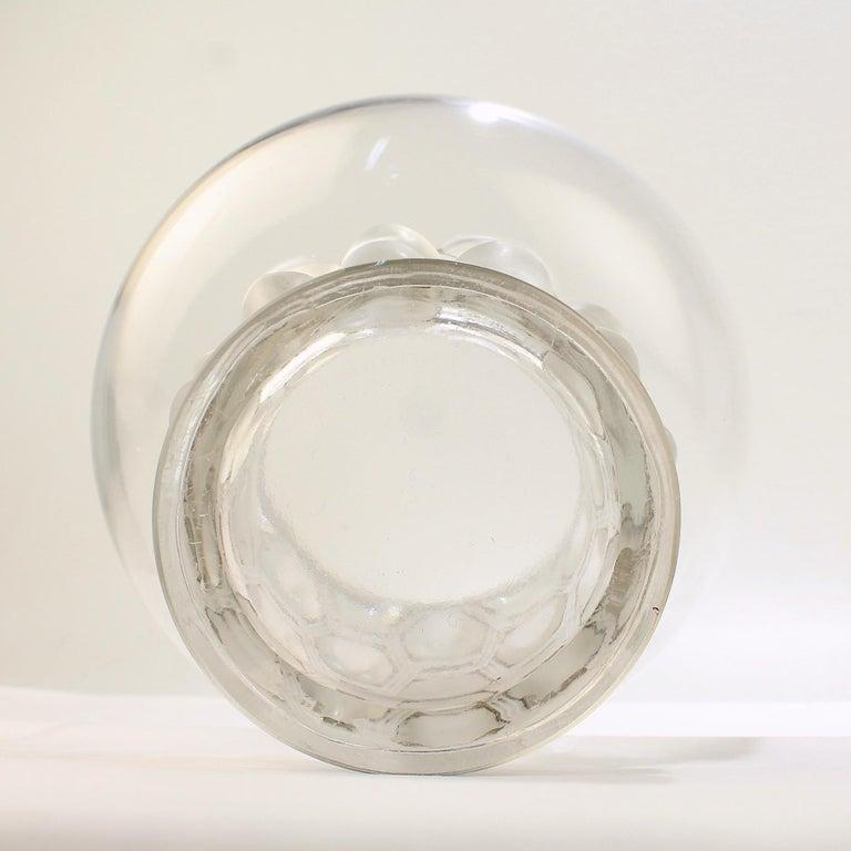 Signed Rene Lalique Art Deco Period Beautreillis Art Glass Vase For Sale 6