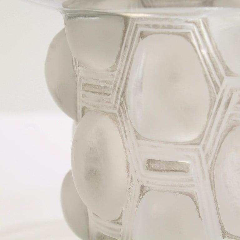 French Signed Rene Lalique Art Deco Period Beautreillis Art Glass Vase For Sale