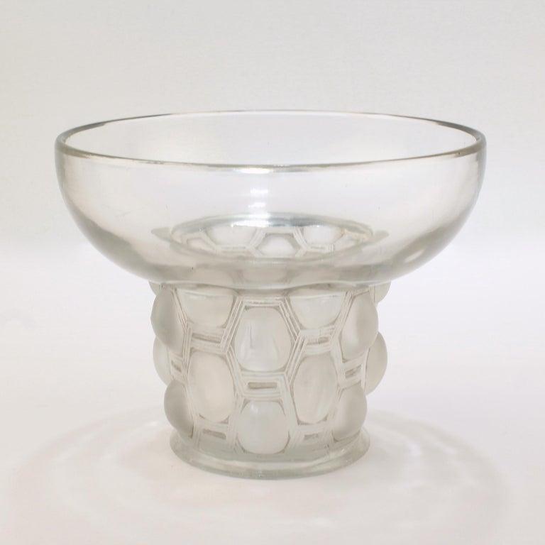 Signed Rene Lalique Art Deco Period Beautreillis Art Glass Vase For Sale 1