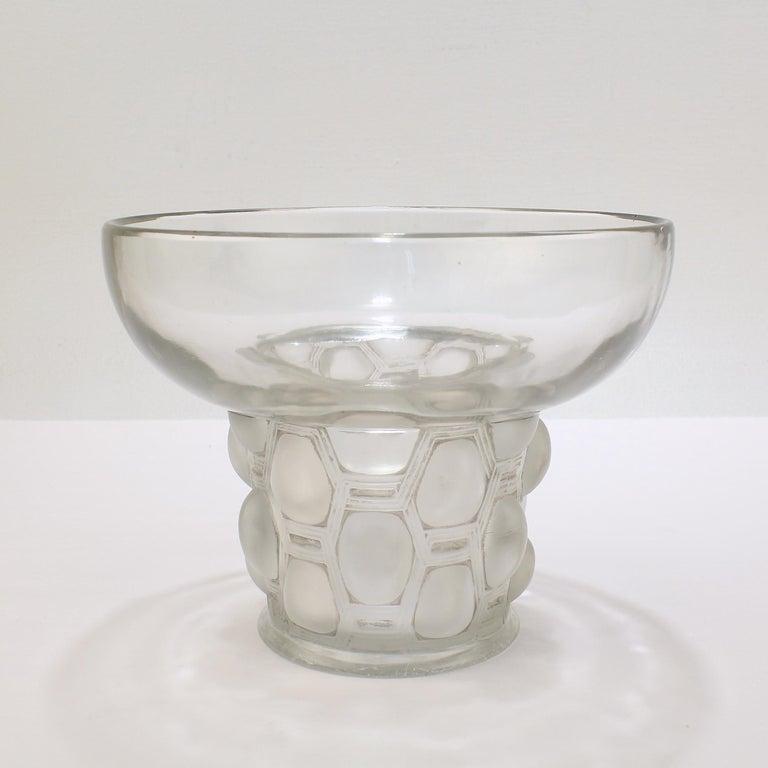 Signed Rene Lalique Art Deco Period Beautreillis Art Glass Vase For Sale 2